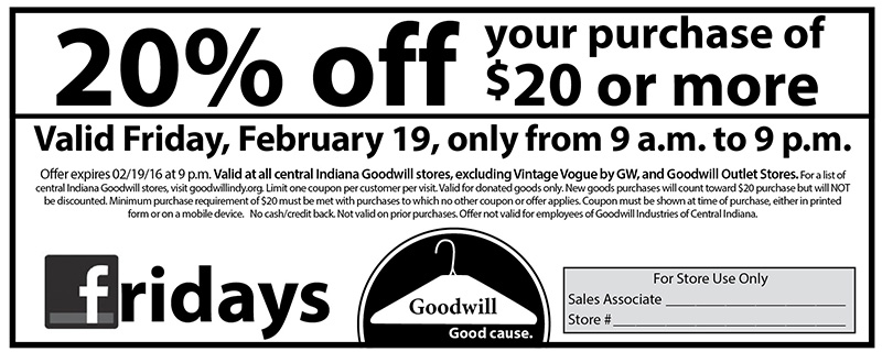 Facebook Friday Coupon